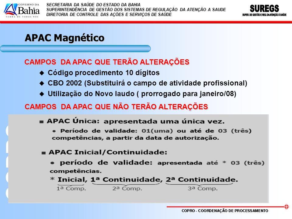 APAC Magnético CAMPOS DA APAC QUE TERÃO ALTERAÇÕES