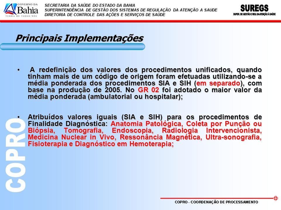 Principais Implementações