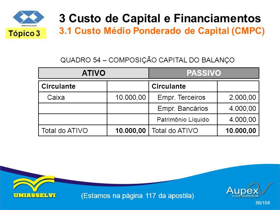 3 Custo de Capital e Financiamentos 3