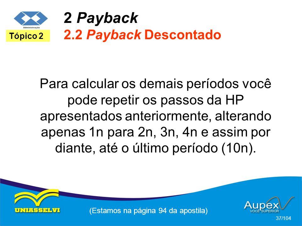 2 Payback 2.2 Payback Descontado