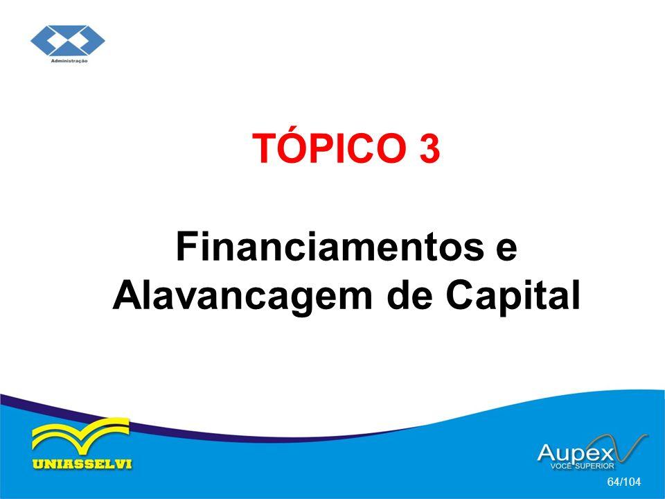 TÓPICO 3 Financiamentos e Alavancagem de Capital