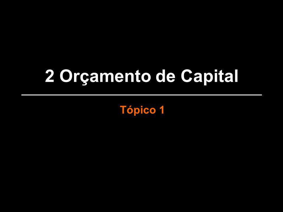2 Orçamento de Capital Tópico 1