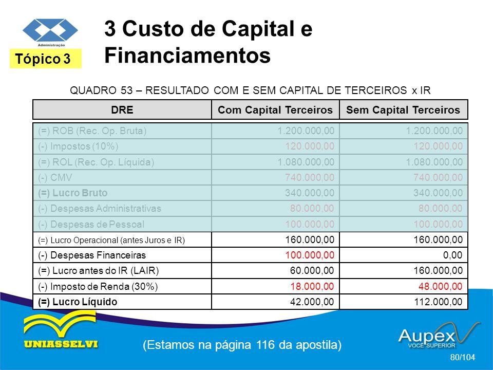 3 Custo de Capital e Financiamentos