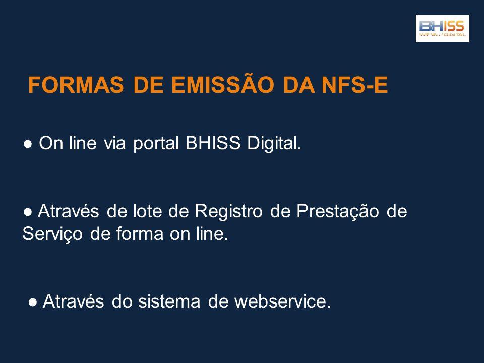 FORMAS DE EMISSÃO DA NFS-E