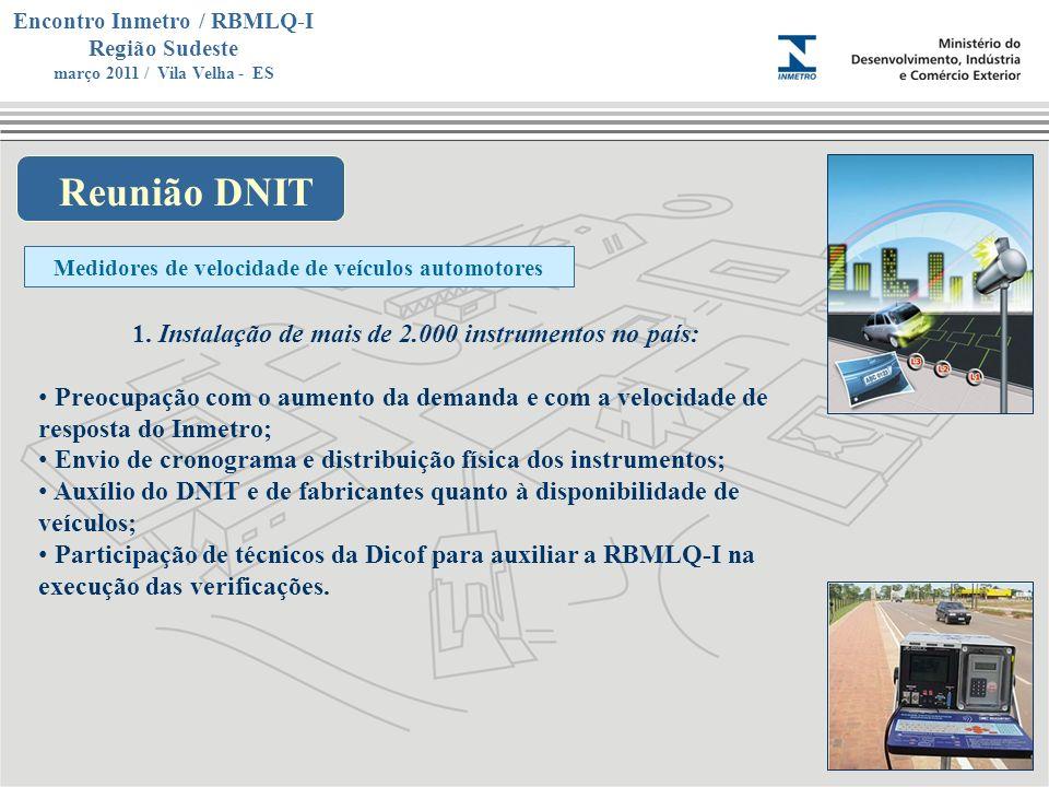 Reunião DNIT Instalação de mais de 2.000 instrumentos no país: