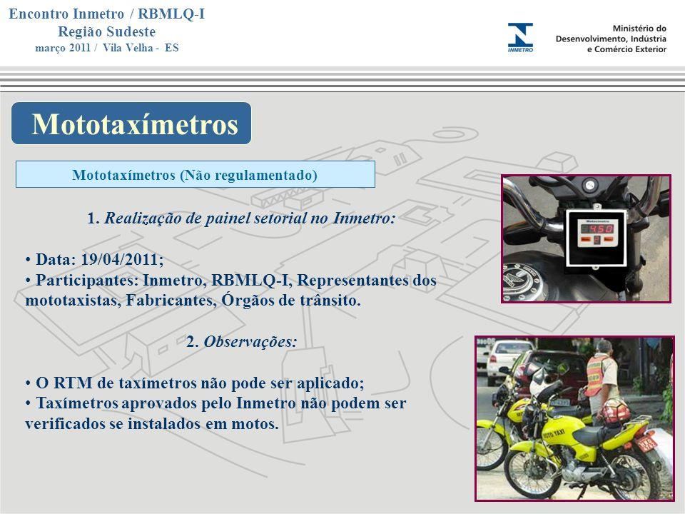 Mototaxímetros Realização de painel setorial no Inmetro: