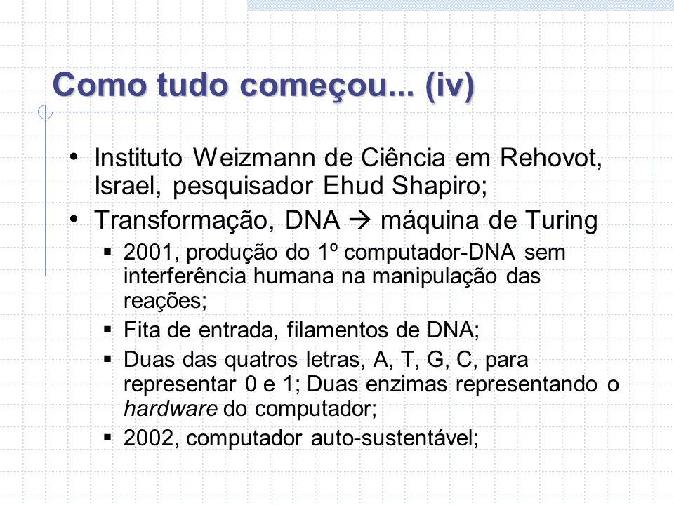 Como tudo começou... (iv) Instituto Weizmann de Ciência em Rehovot, Israel, pesquisador Ehud Shapiro;