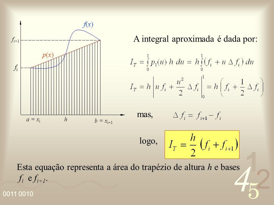 A integral aproximada é dada por: