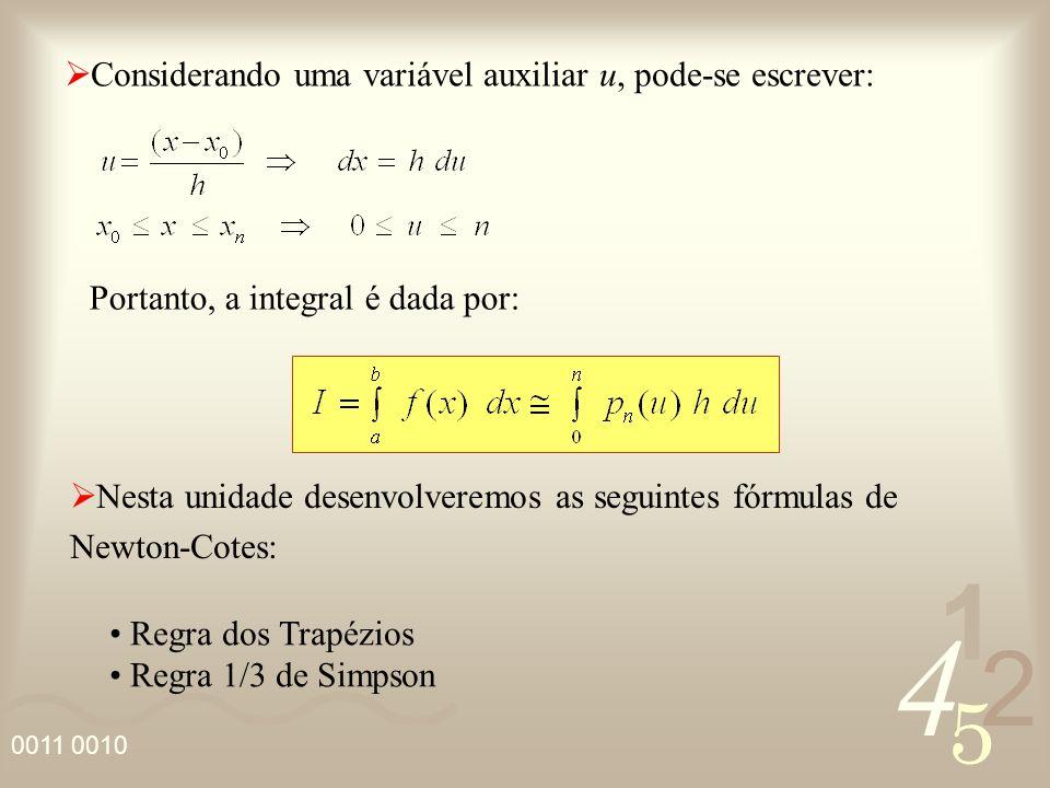 Considerando uma variável auxiliar u, pode-se escrever: