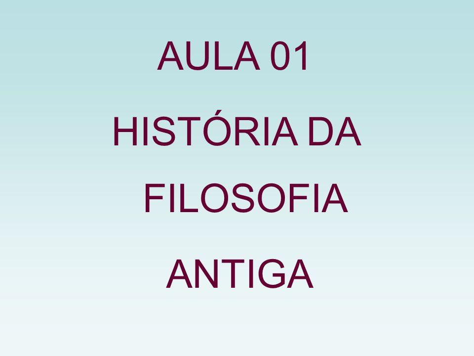 AULA 01 HISTÓRIA DA FILOSOFIA ANTIGA