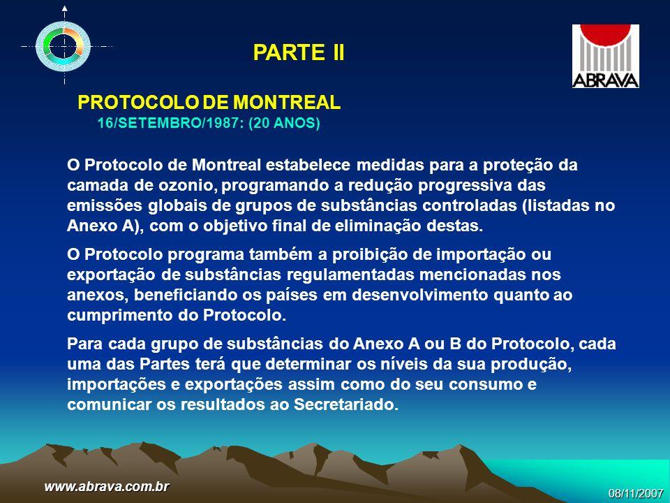 PARTE II PROTOCOLO DE MONTREAL