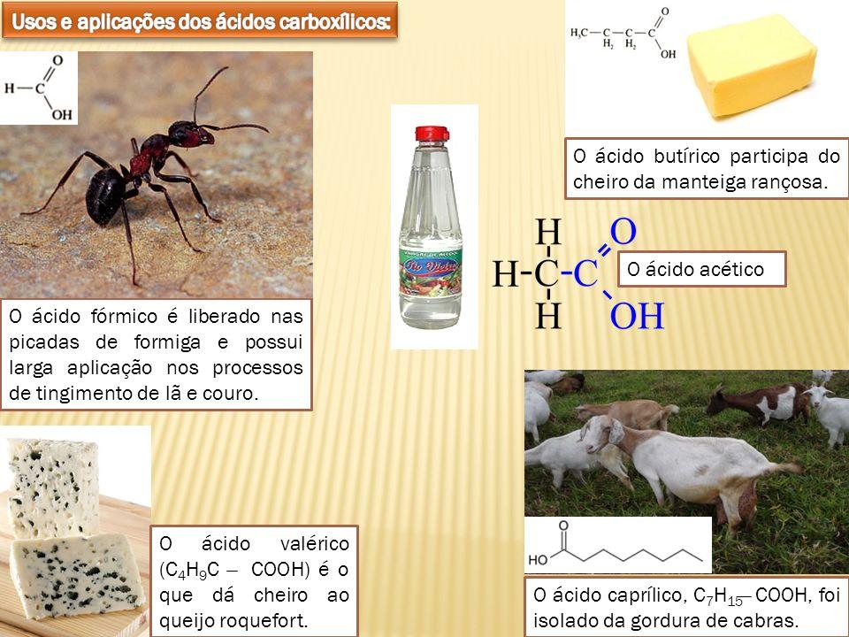 Usos e aplicações dos ácidos carboxílicos: