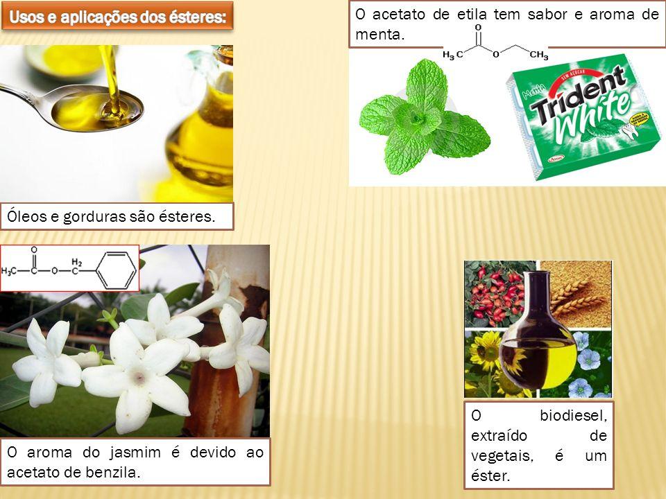 Usos e aplicações dos ésteres: