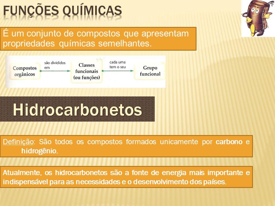 Hidrocarbonetos Funções Químicas