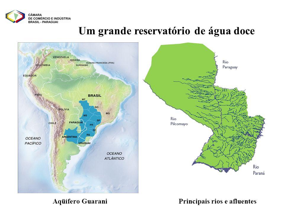 Um grande reservatório de água doce Principais rios e afluentes
