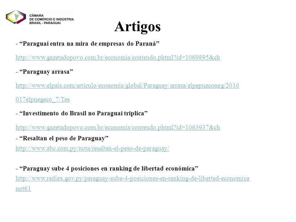 Artigos - Paraguai entra na mira de empresas do Paraná