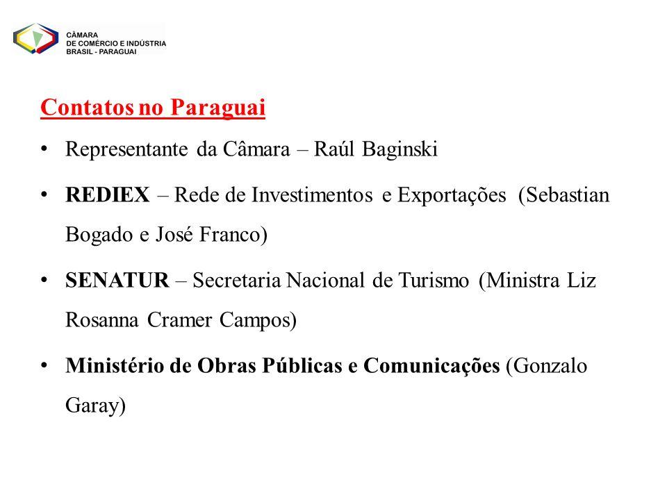 Contatos no Paraguai Representante da Câmara – Raúl Baginski