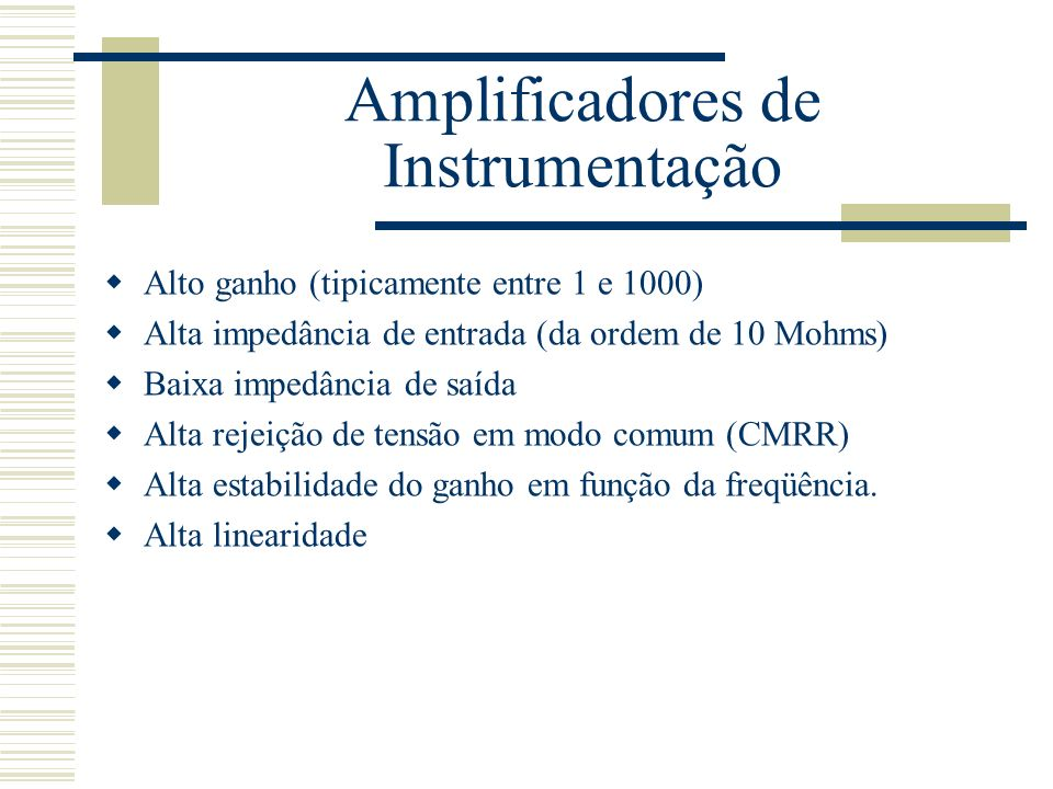 Amplificadores de Instrumentação