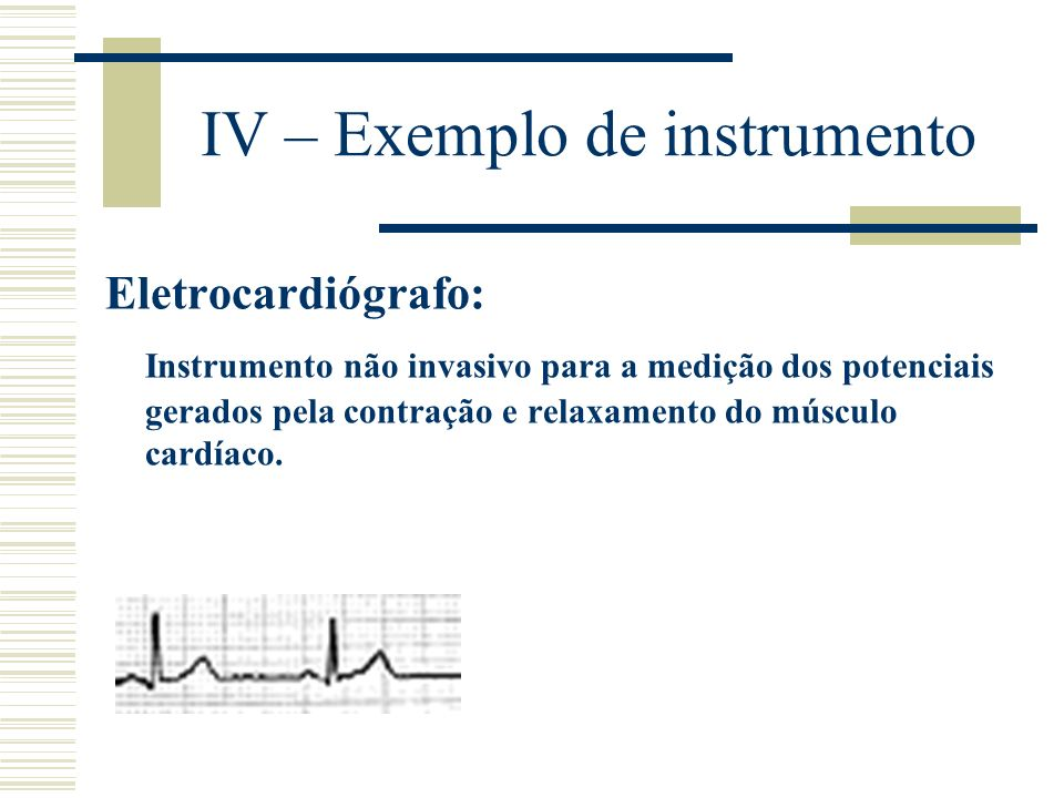 IV – Exemplo de instrumento