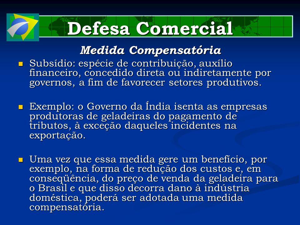Defesa Comercial Medida Compensatória