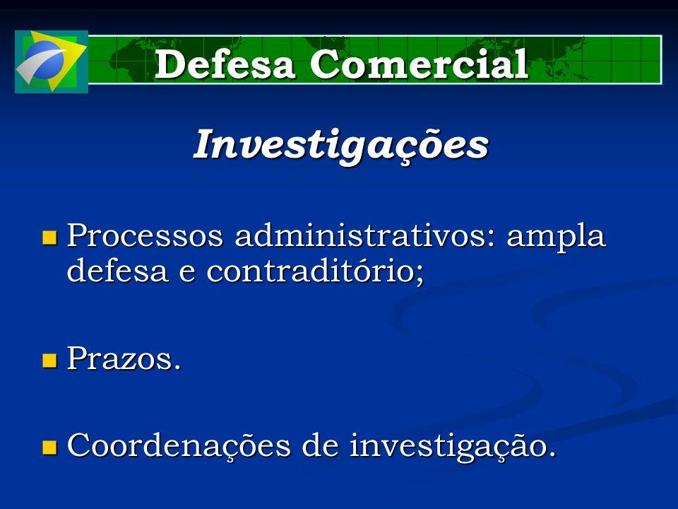 Defesa Comercial Investigações