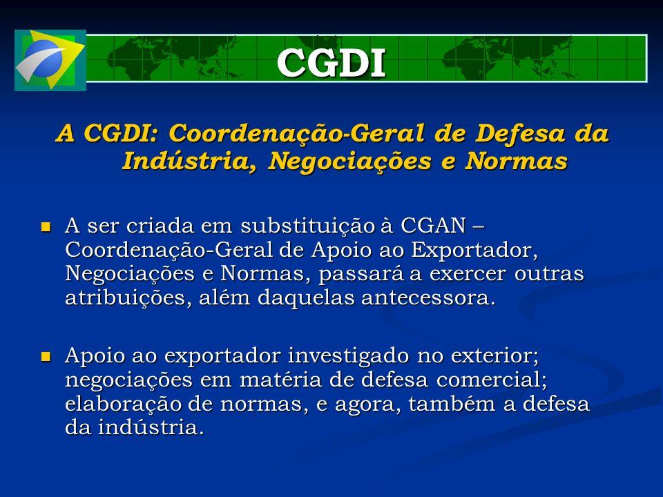 A CGDI: Coordenação-Geral de Defesa da Indústria, Negociações e Normas