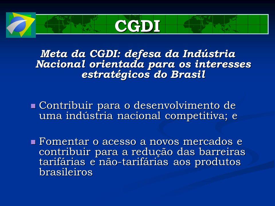 CGDI Meta da CGDI: defesa da Indústria Nacional orientada para os interesses estratégicos do Brasil.