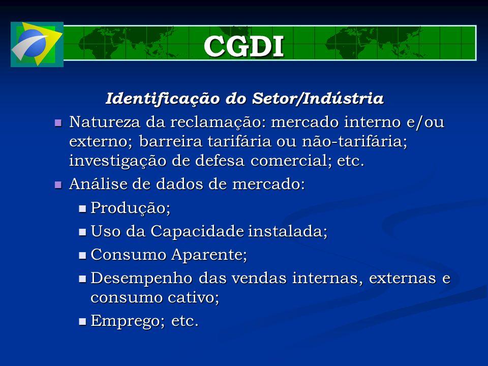 Identificação do Setor/Indústria