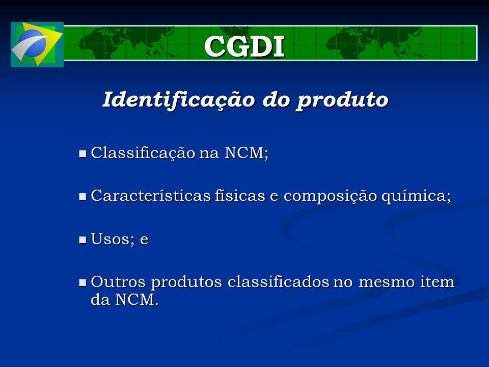 Identificação do produto