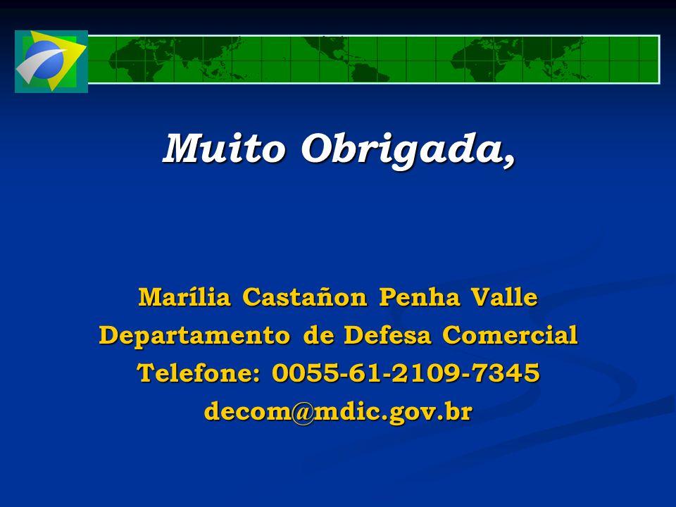 Marília Castañon Penha Valle Departamento de Defesa Comercial