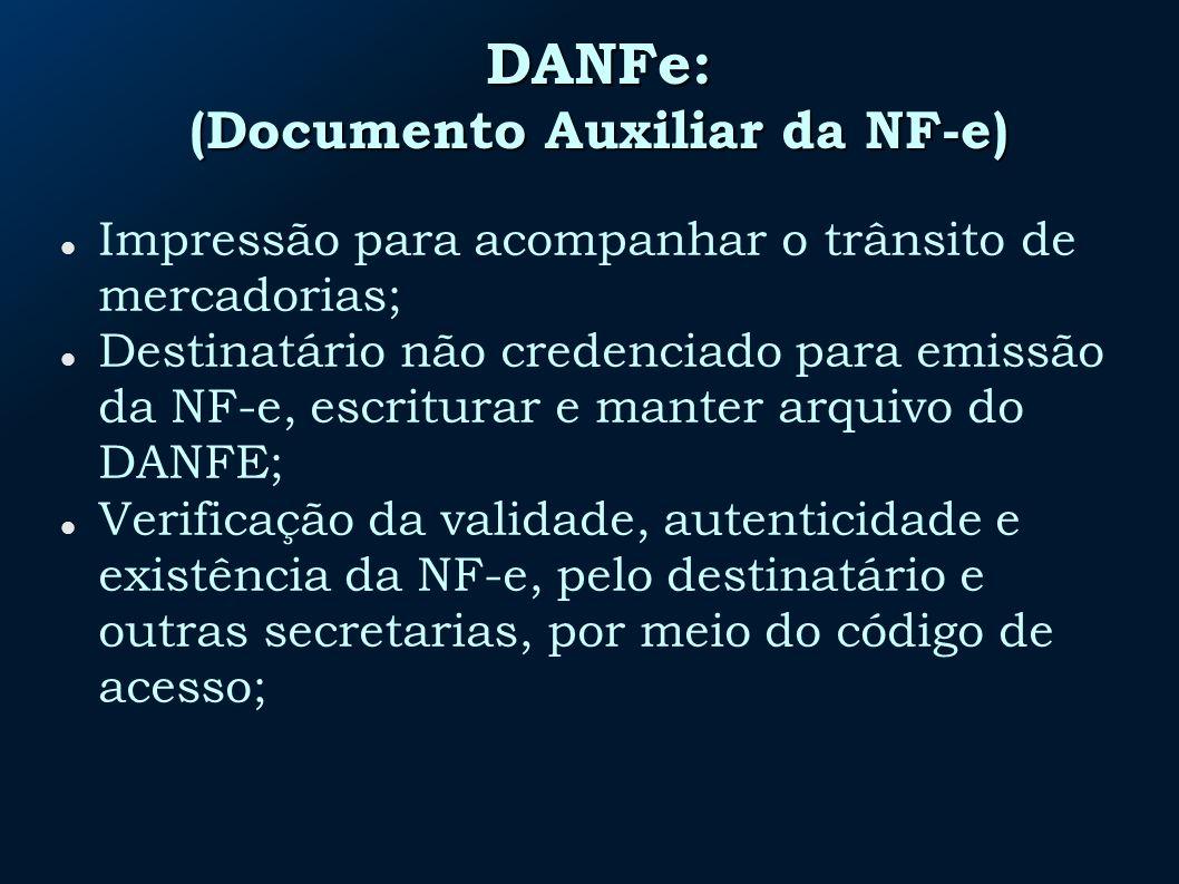 DANFe: (Documento Auxiliar da NF-e)