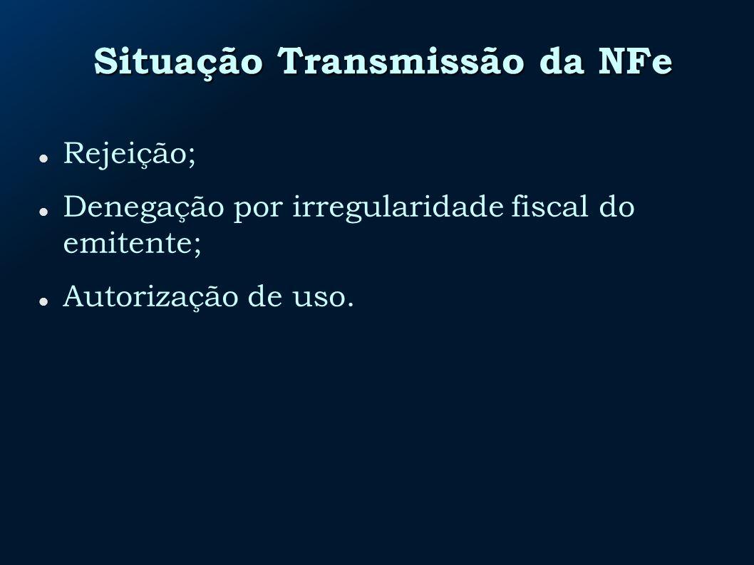 Situação Transmissão da NFe