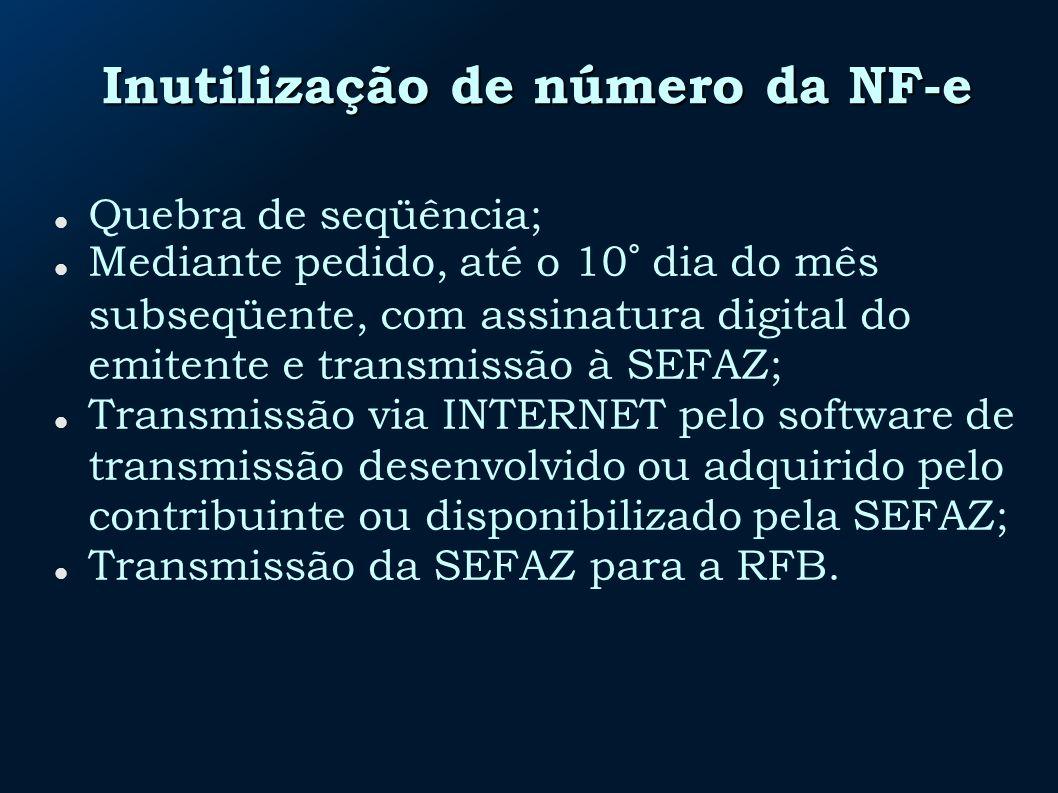 Inutilização de número da NF-e