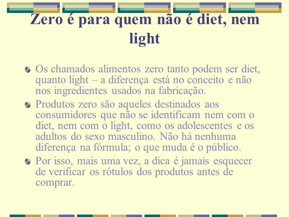 Zero é para quem não é diet, nem light