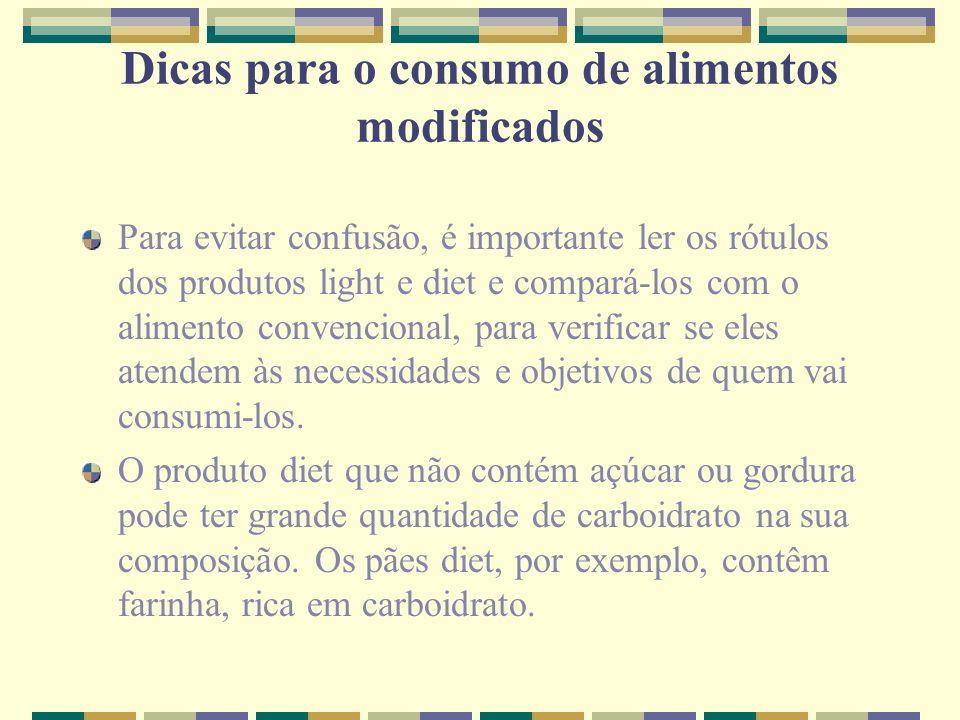 Dicas para o consumo de alimentos modificados