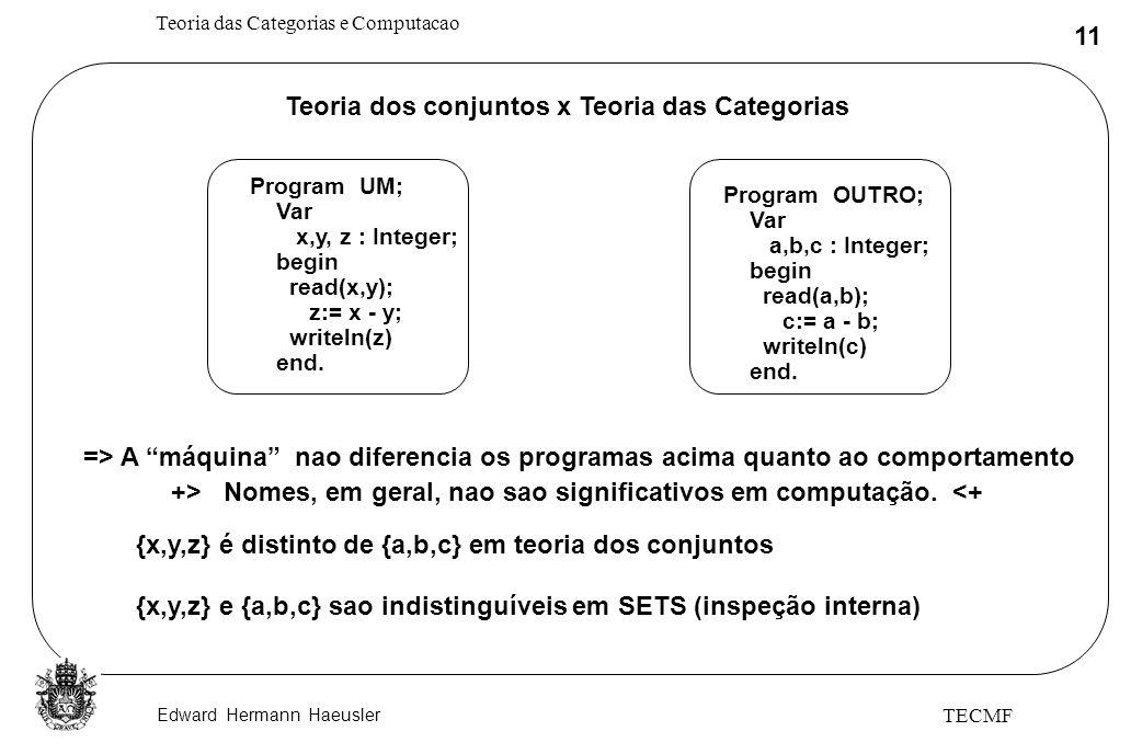 Teoria dos conjuntos x Teoria das Categorias