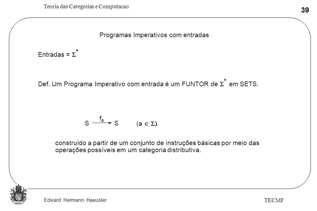 Programas Imperativos com entradas