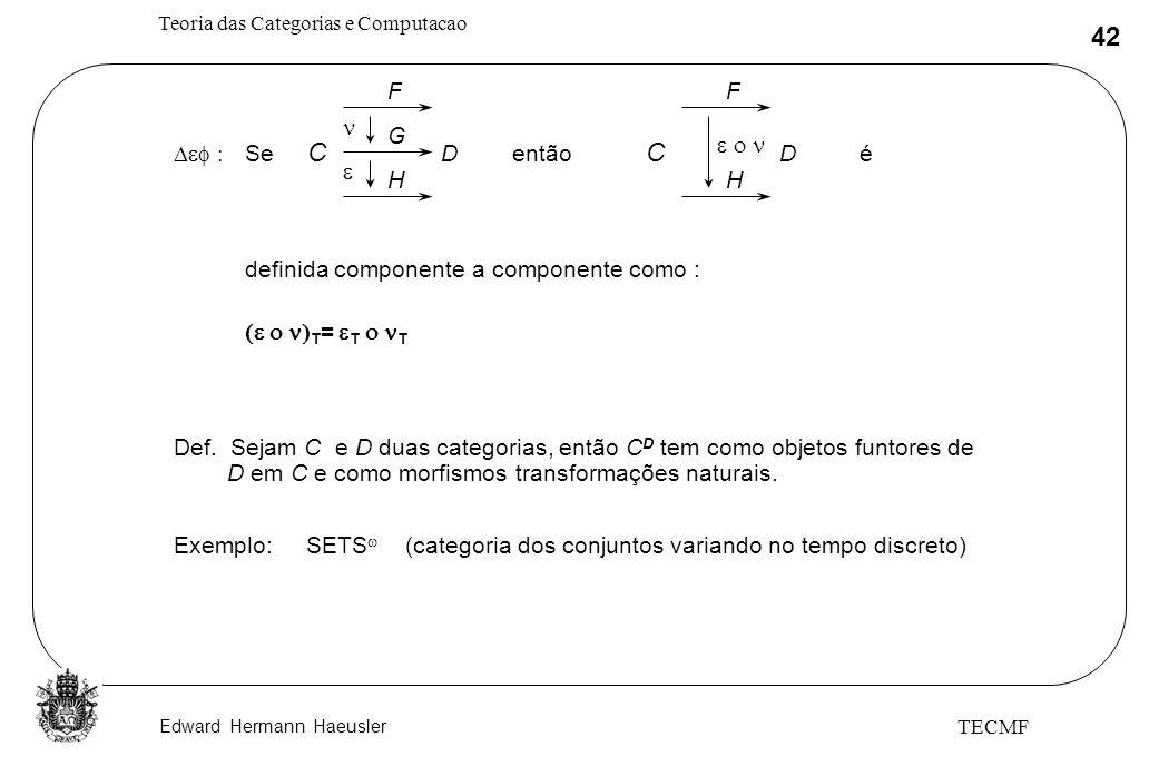 C C F F n G e o n Def : Se D então D é e H H