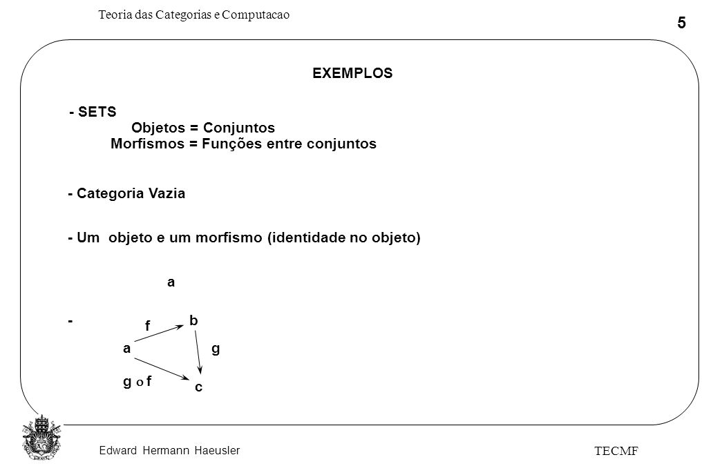 Morfismos = Funções entre conjuntos