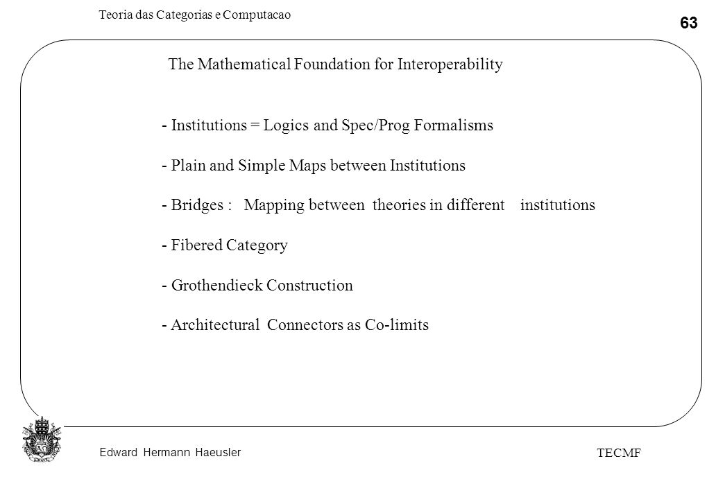 The Mathematical Foundation for Interoperability