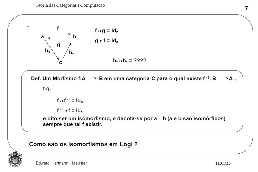 Como sao os isomorfismos em LogI