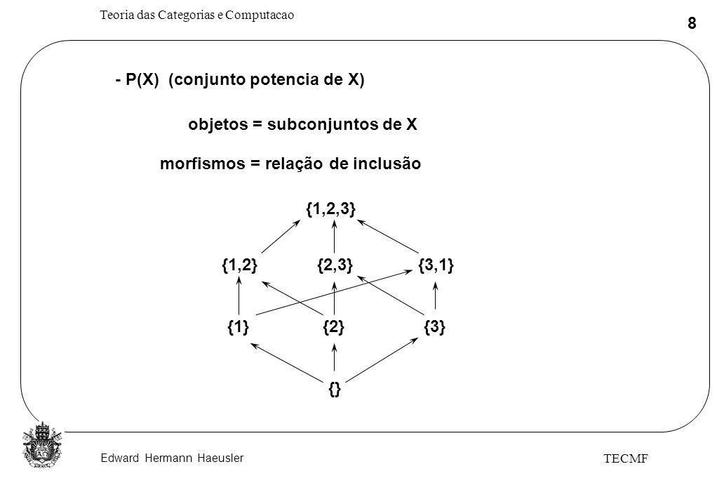 - P(X) (conjunto potencia de X)