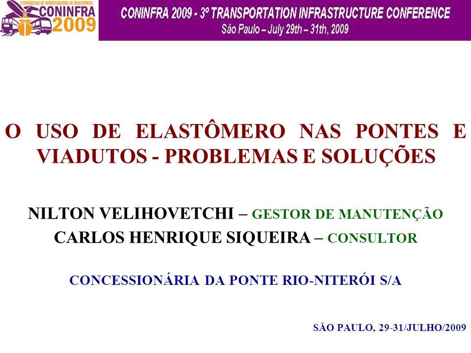 O USO DE ELASTÔMERO NAS PONTES E VIADUTOS - PROBLEMAS E SOLUÇÕES
