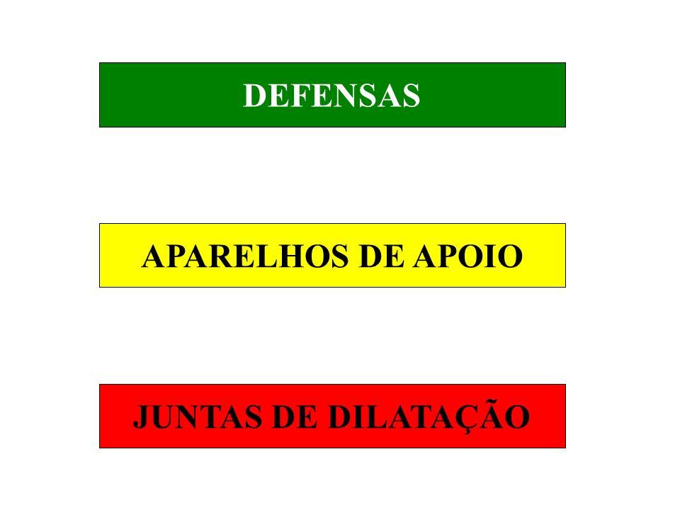 DEFENSAS APARELHOS DE APOIO JUNTAS DE DILATAÇÃO