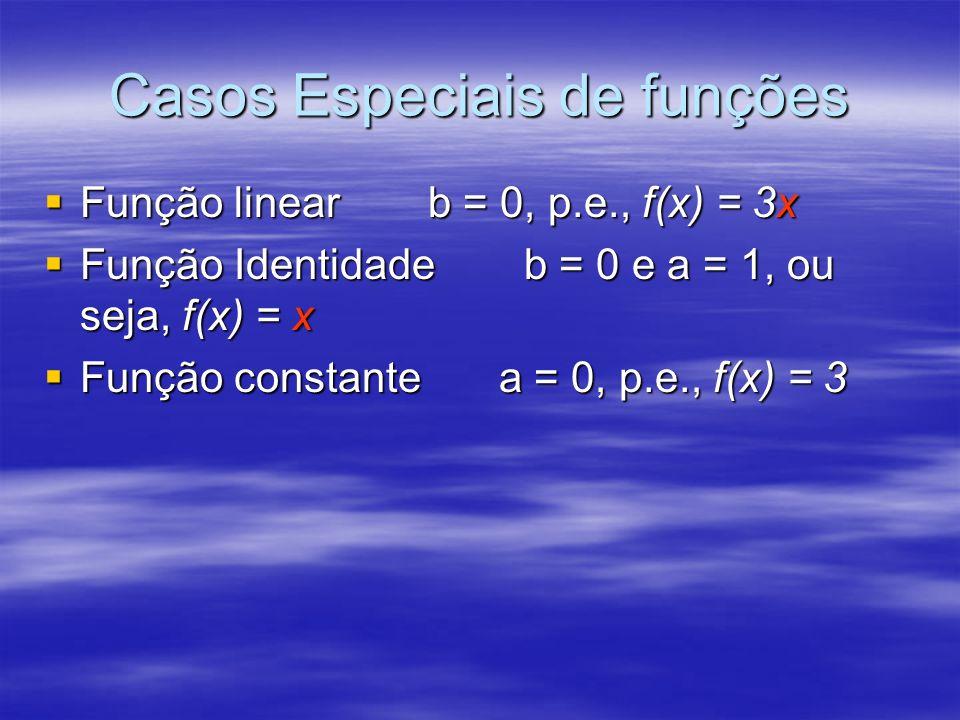 Casos Especiais de funções
