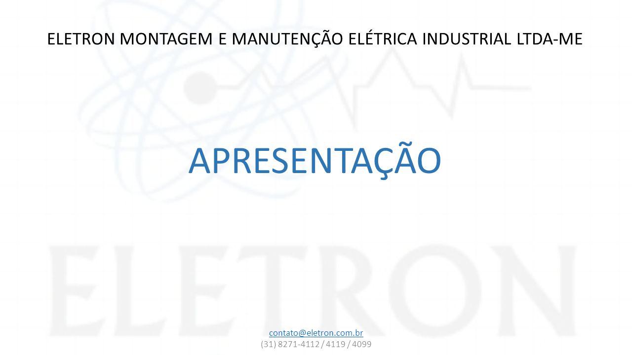 ELETRON MONTAGEM E MANUTENÇÃO ELÉTRICA INDUSTRIAL LTDA-ME