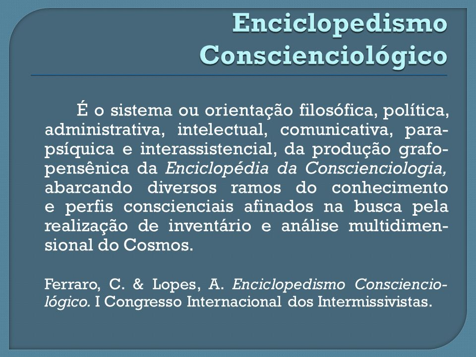Enciclopedismo Conscienciológico
