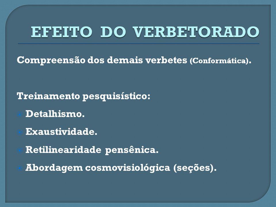 EFEITO DO VERBETORADO Compreensão dos demais verbetes (Conformática).
