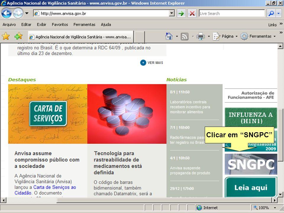 Clicar em SNGPC