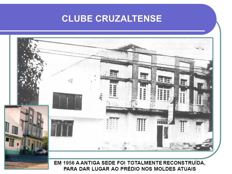 CLUBE CRUZALTENSE EM 1956 A ANTIGA SEDE FOI TOTALMENTE RECONSTRUÍDA, PARA DAR LUGAR AO PRÉDIO NOS MOLDES ATUAIS.